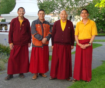 Paltul Rinpoche and the Monks of Sakya Monastery