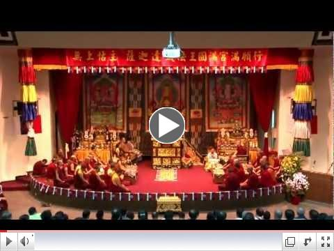 H.H. Jigdal Dagchen Sakya Offers Phurba-Kardud Initiation