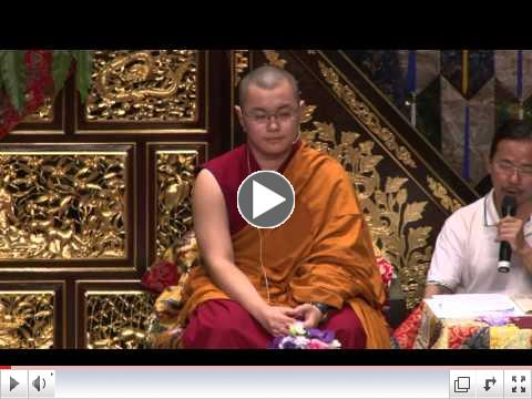 H.E. Abhaya Rinpoche offers a Dharma Lecture