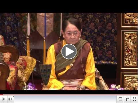 H.E. Dagmo Kusho Sakya offers 21 Tara Initiation