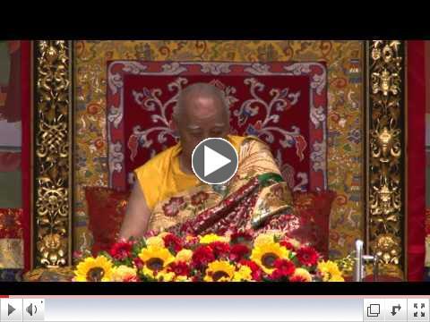 H.H. Jigdal Dagchen Sakya gives Guru Yoga blessing
